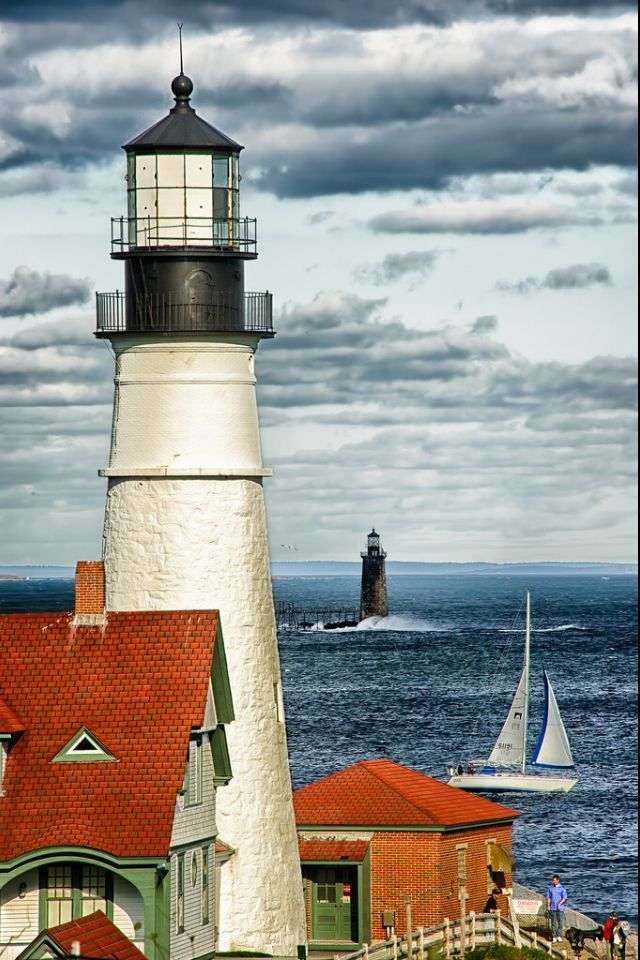 Portland Head Lighthouse and Ram Island Ledge Light, Port Elisabeth ...