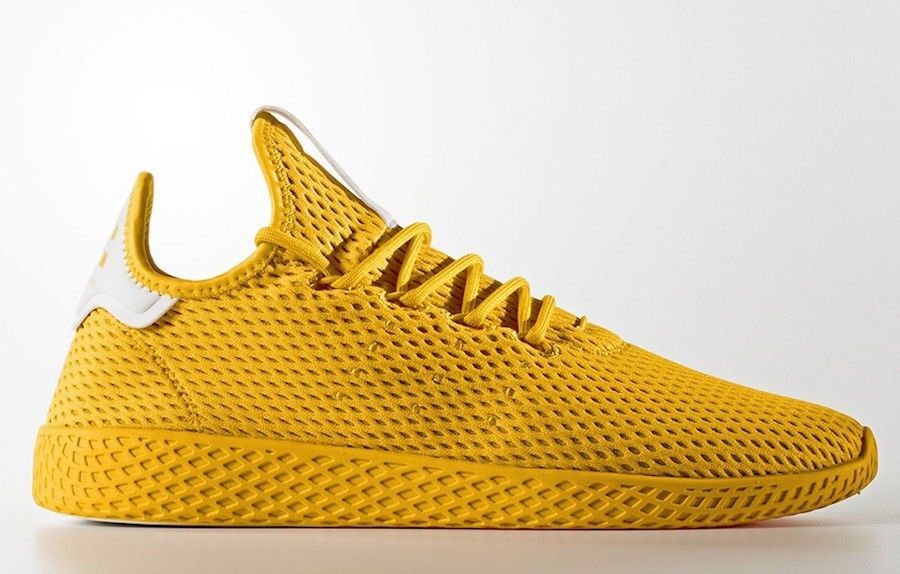 Adidas X Pharrell Williams Men Tennis Hu Yellow Mens Shoes Size 9 5 Fashion Clothing Shoe Adidas Slip On Shoes Sneakers Men Fashion Adidas Pharrell Williams