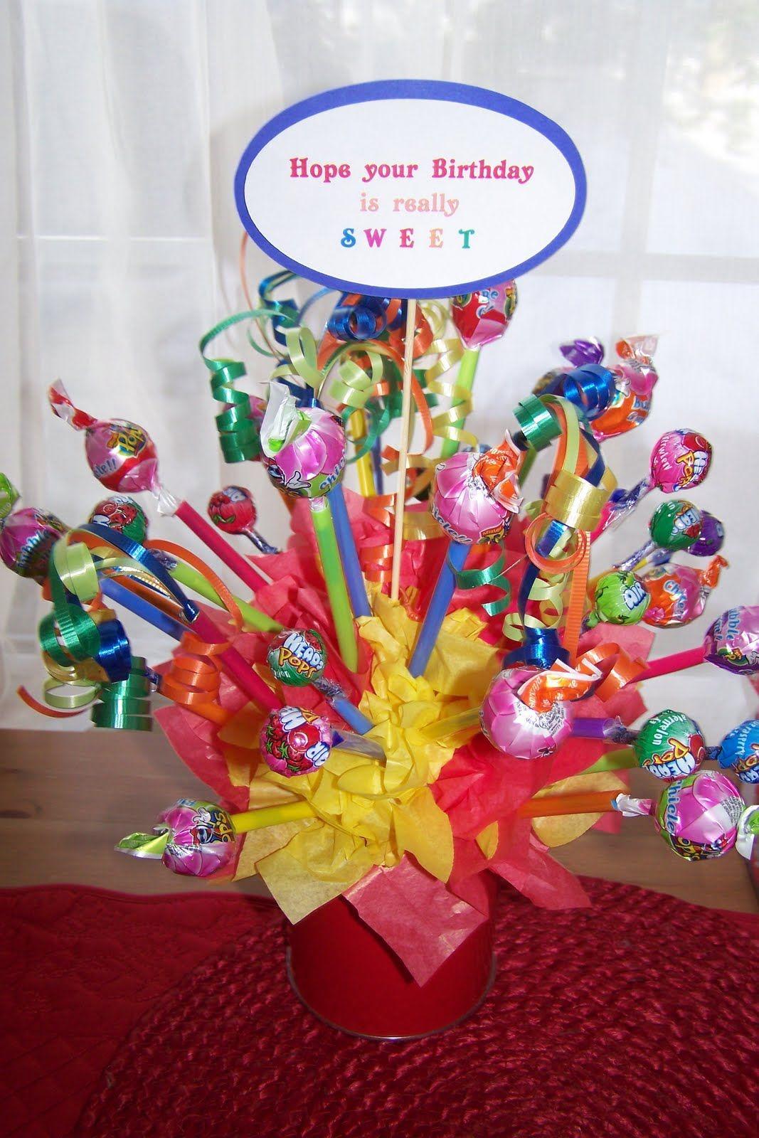 A place to BE HAPPY!... Candy Bouquet Lollipop bouquet