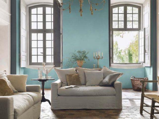 Mur turquoise salon d co diver pinterest turquoise for Deco turquoise salon