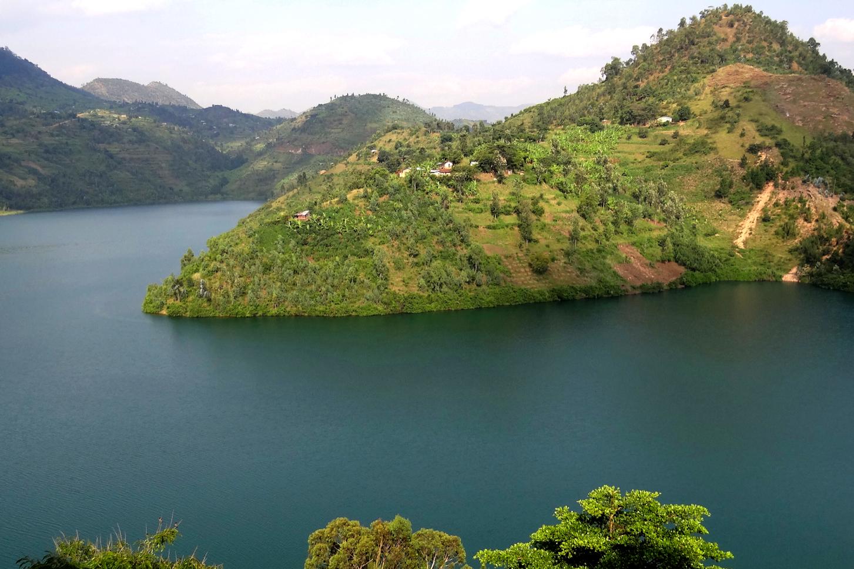Lac Kivu Entre Le Congo Et Le Rwanda Voyage En Afrique Jolie Paysage Congo