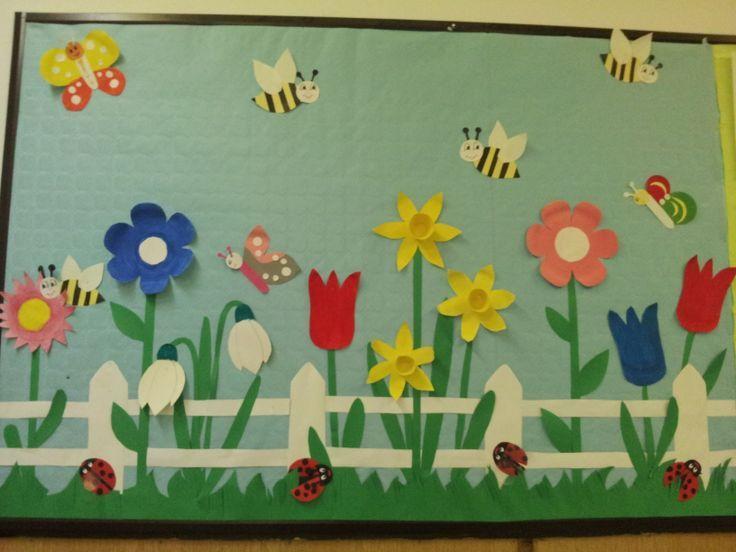 Classroom Display Ideas Kindergarten ~ Spring bulletin board craft idea crafts and worksheets