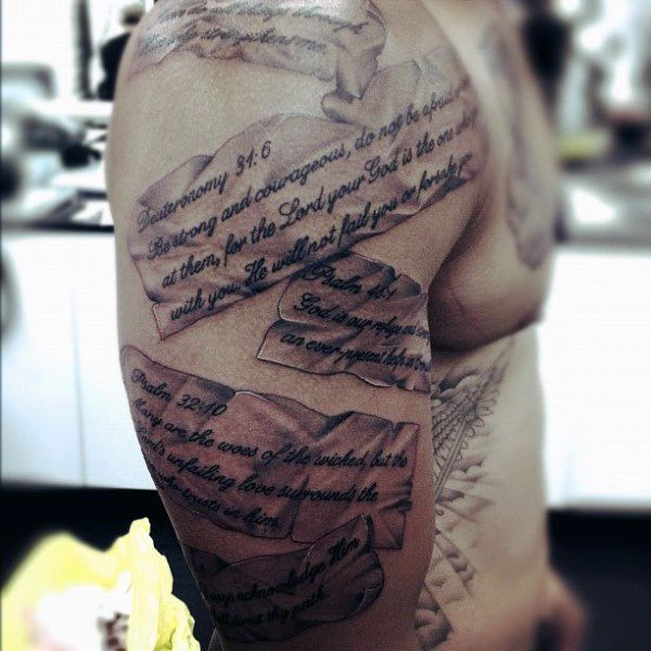 50 Bible Verse Tattoos For Men | Tattoos For Men ...