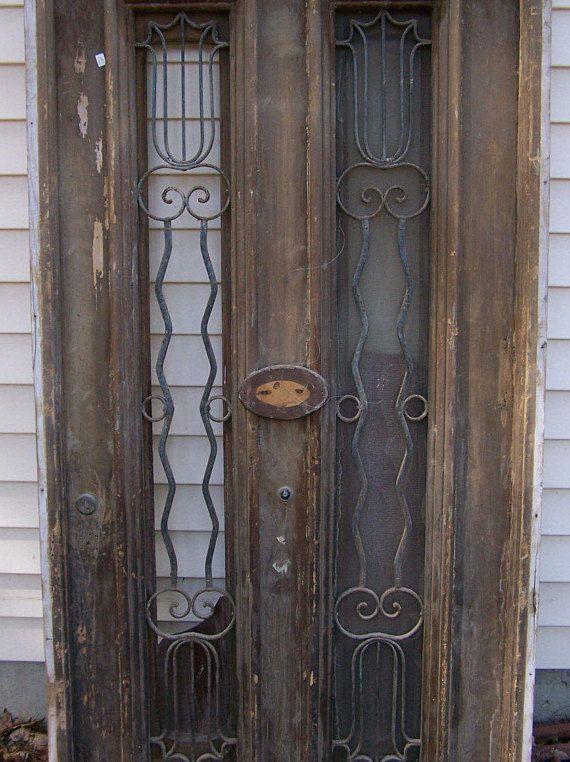 Antique Pediment Windows With Iron Panels Salvage Iron Window Panel In 2020 Vintage Architecture Vintage Doors Iron Windows