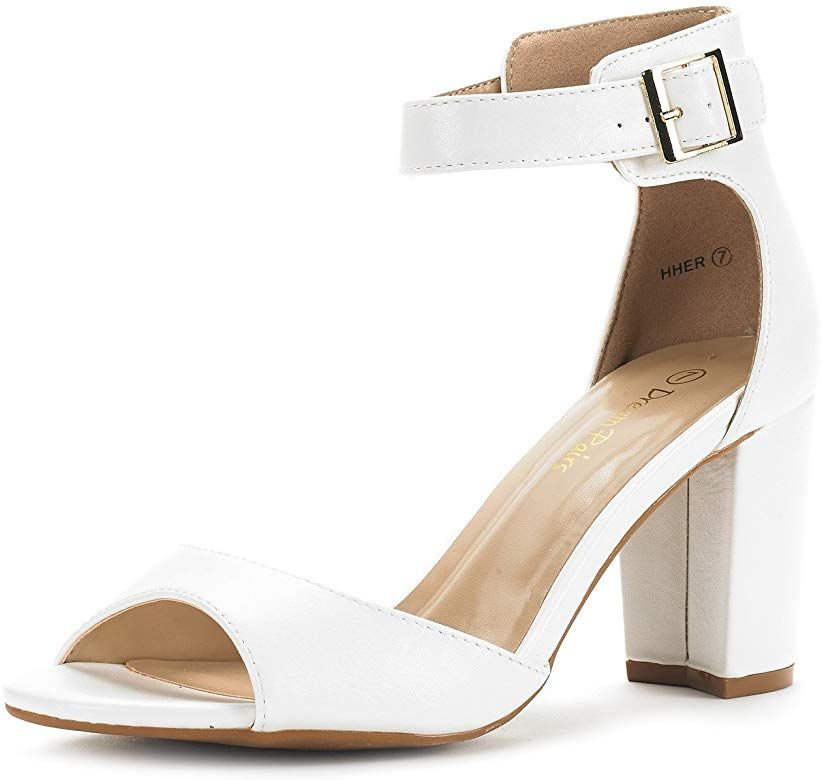 DREAM PAIRS Womens Low-Chunk Low Heel Pump Sandals   eBay
