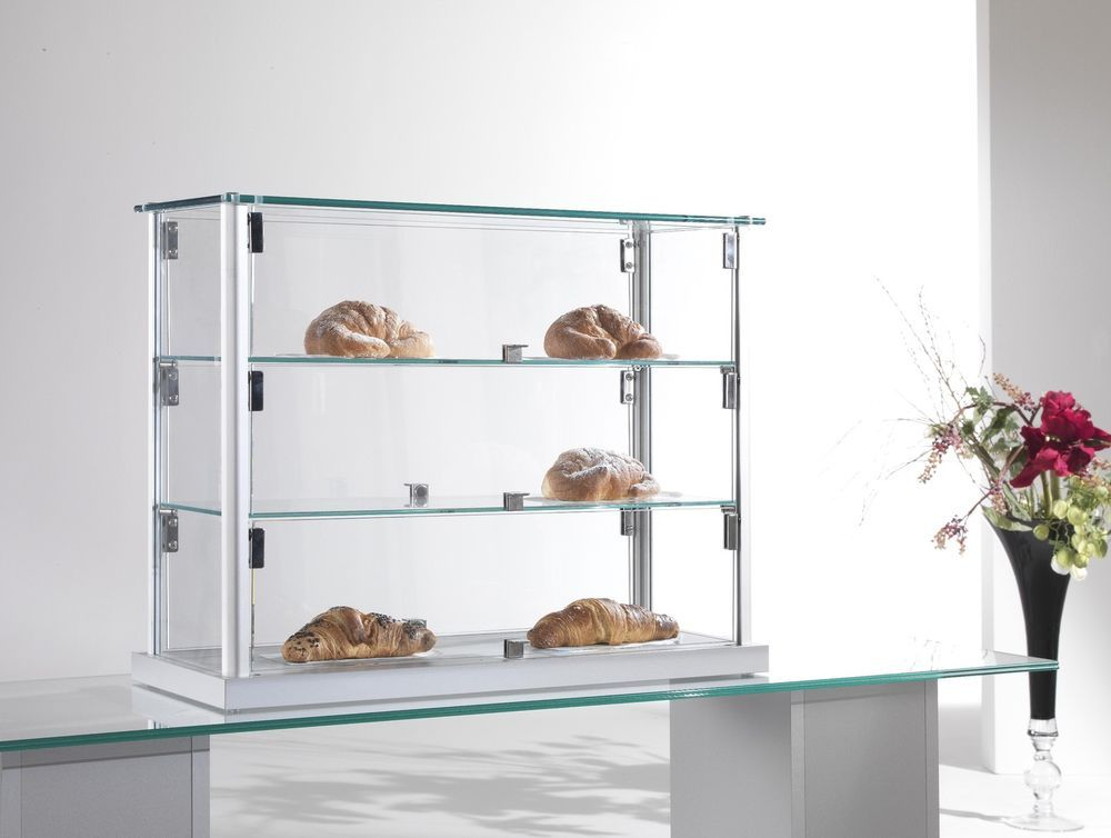 Dettagli su vetrina piccola vetrinetta vetro da banco per for Ikea vetrine in vetro
