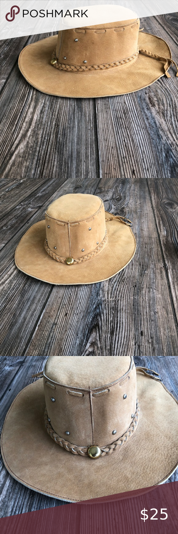 Tan Suede Texture Cowboy Hat W Braided Hat Band Leather Cowboy Hats Cowboy Hats Hat Band