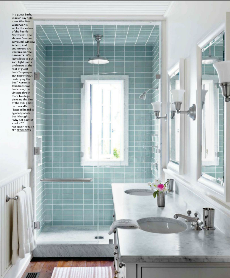 5 tips for small bathrooms - Bathroom Designs Using Glass Tiles
