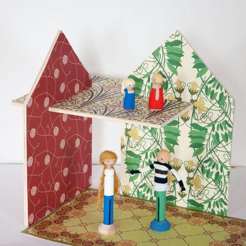 """Maison de poupée à décorer """"Art Nouveau"""""""