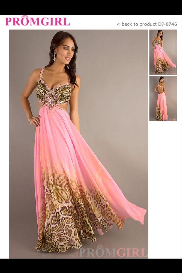 Cheetah, pink prom dress | Cute dresses | Pinterest