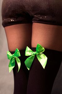 Opaque Thigh Highs with Bows