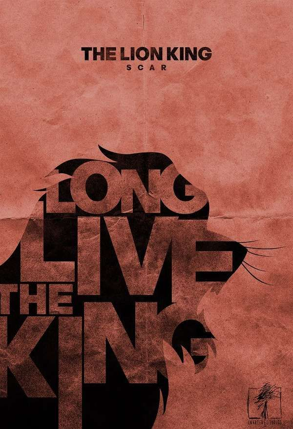 Typographic Minimalist Movie Posters The Lion King