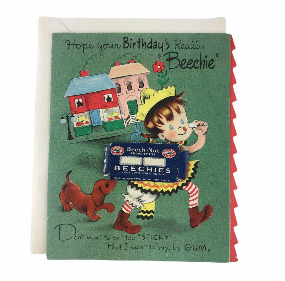 Vintage 1950s Beechie Beech Nut Chewing Gum Girl Child