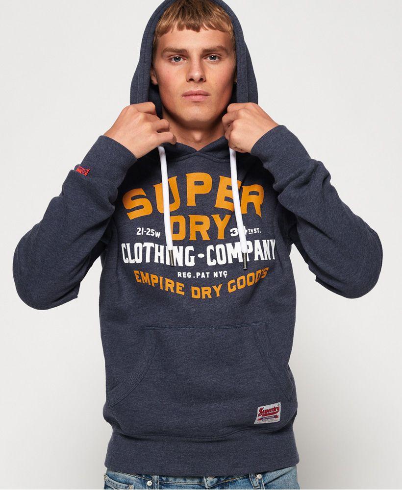 Superdry Princeton Blue Marl Flagship Hoodie 2019 Edition Mens Sweatshirts Hoodie Hoodies Hoodies Men [ 1000 x 820 Pixel ]