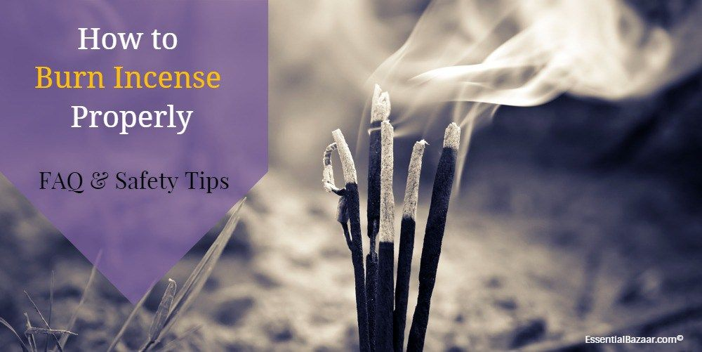 how to burn incense cones
