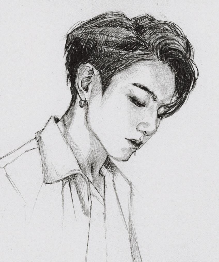 Jungkook Bts Drawings: Kpop Drawings, Bts Drawings, Bts Fanart
