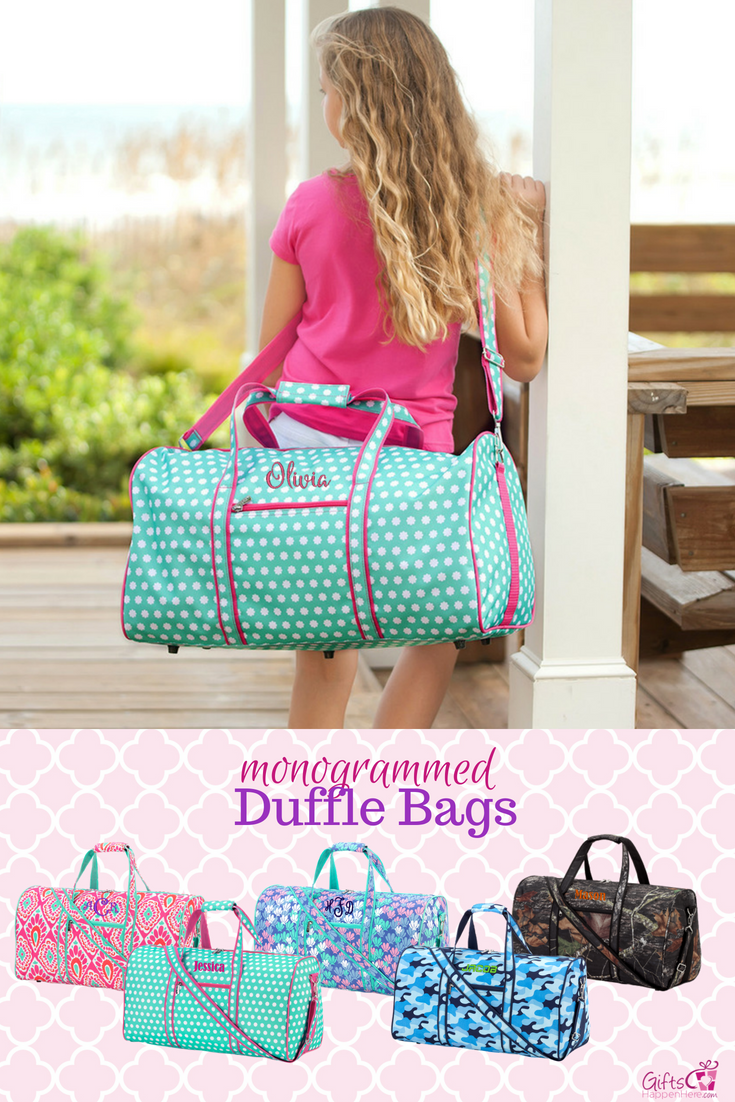 These cute duffle bags are beautifully monogrammed and perfect for kids    teen. Personalized duffle 823104124ff9a