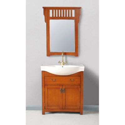 Bathroom Vanity Sink - 32-inch Single Bowl with Mirror - Alexia by