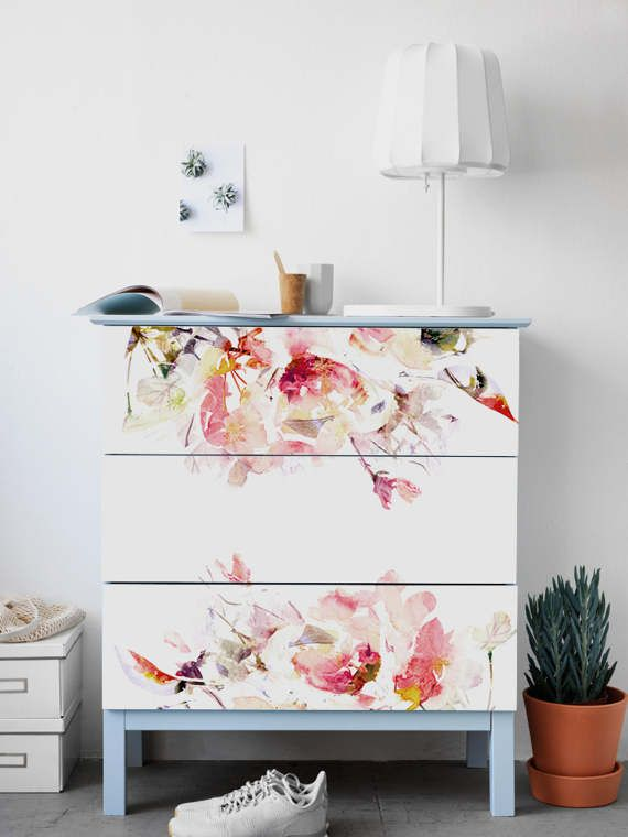 Malm Dresser Ikea Spring Fl Stickers Pack By Stickerscoloray