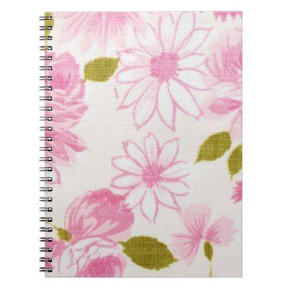 Vintage style soft pink floral notebook flower gifts floral vintage style soft pink floral notebook flower gifts floral flowers diy mightylinksfo