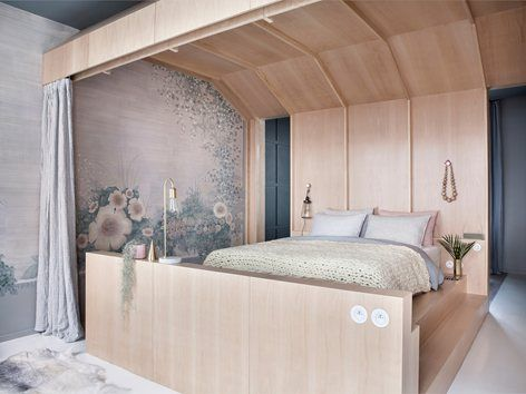 Hotel Chez Marie sixtine in Paris evokes a feeling of whimsy and playfulness, perfect for getting a good night's rest and having a comfortable stay #hotel #bedroom