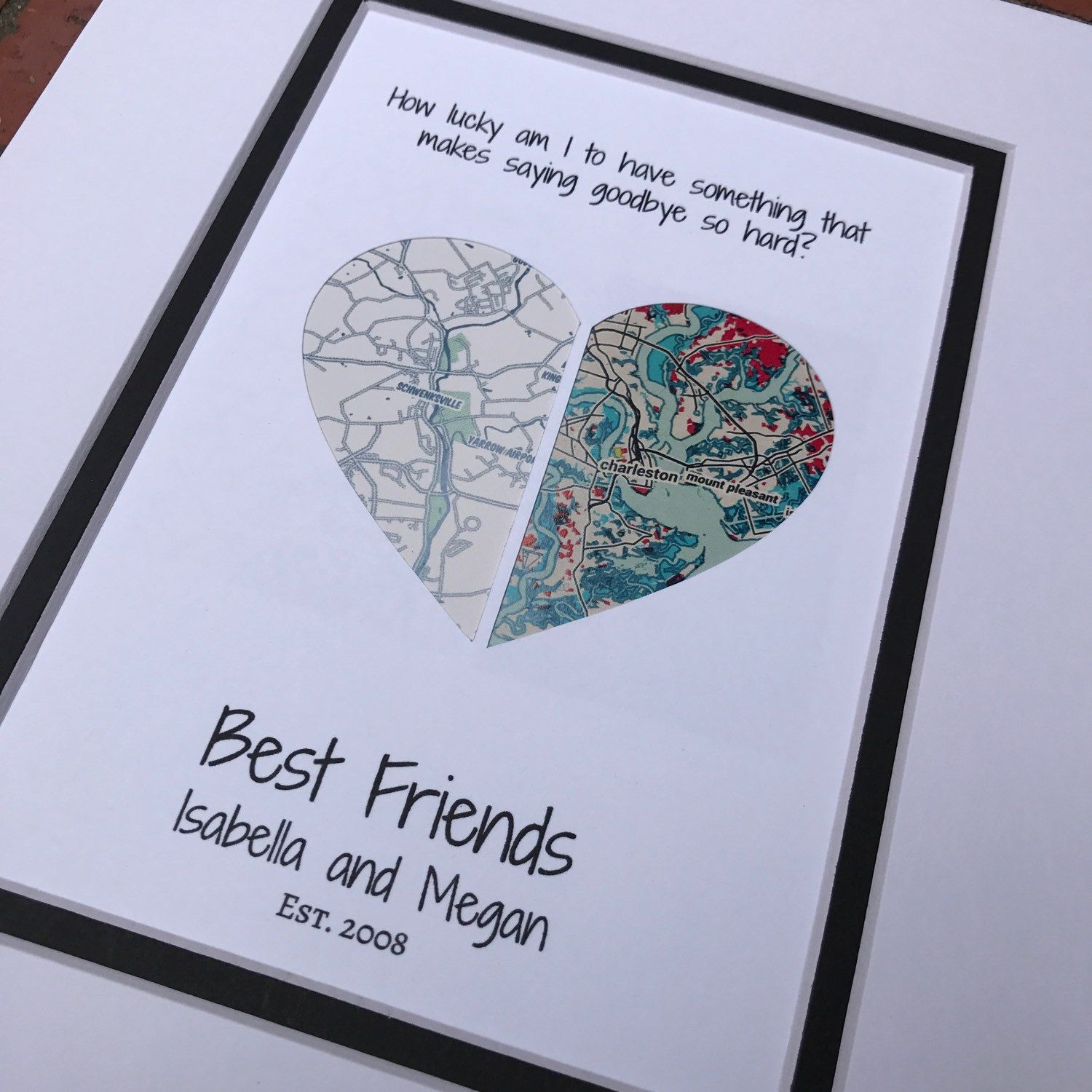 Personalized Note Cards Long Distance Relationship Gift Best Friends Note Cards Moving Away Gift Best Friend Moving Gift