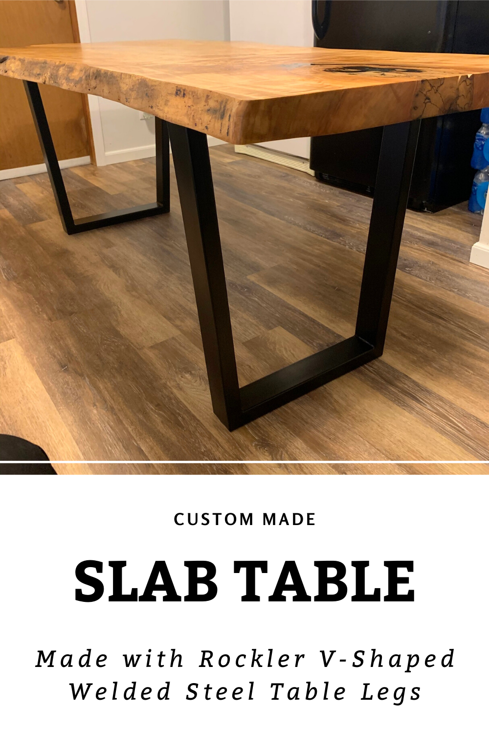 Custom Slab Table In 2020 Steel Table Legs Slab Table Steel Table