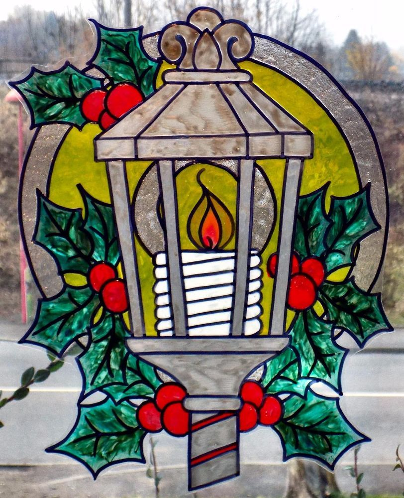 Deco noel window color