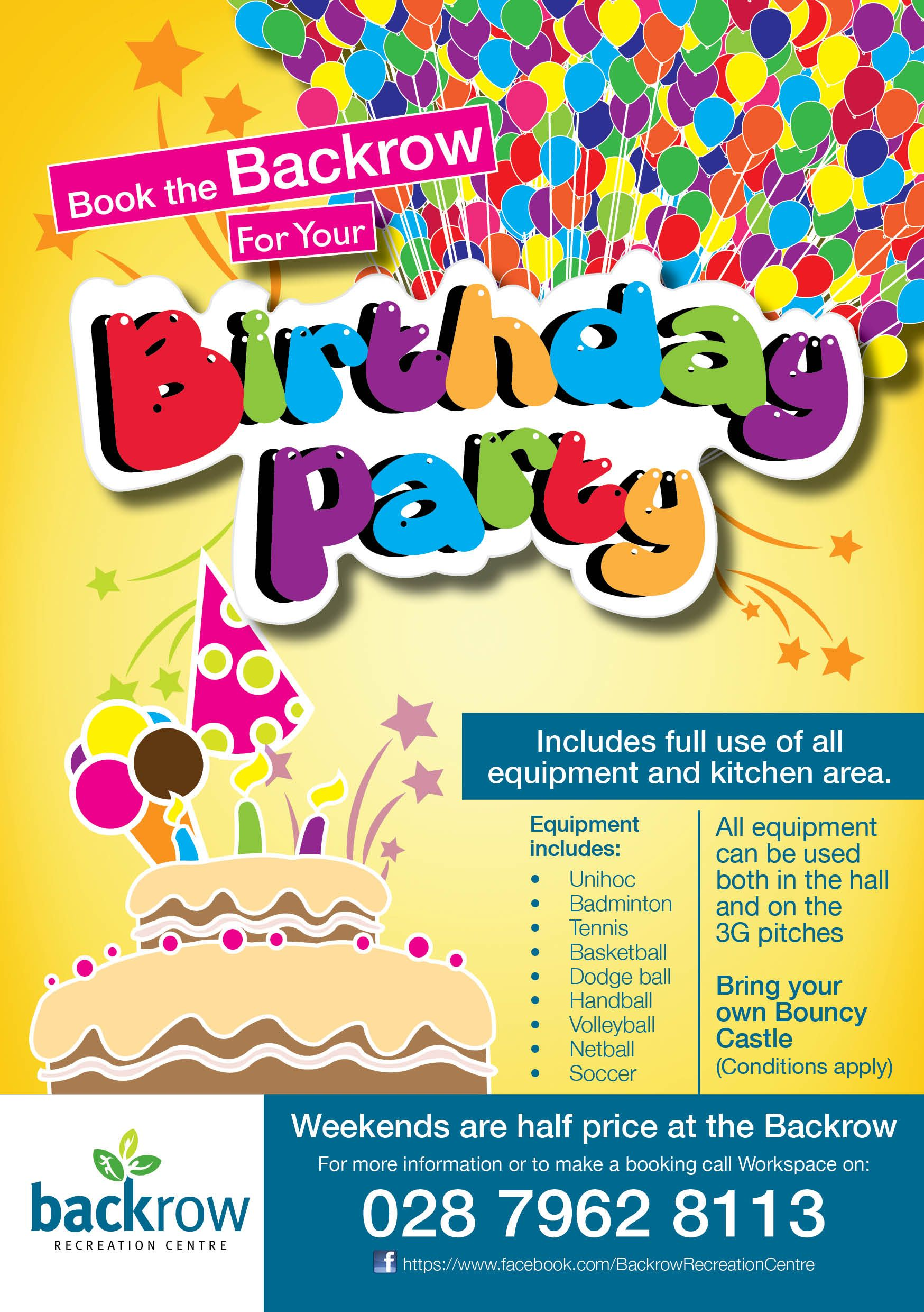 Birthday-party-Hire-facilities-Flyer-Backrow-Recreation-Centre ...