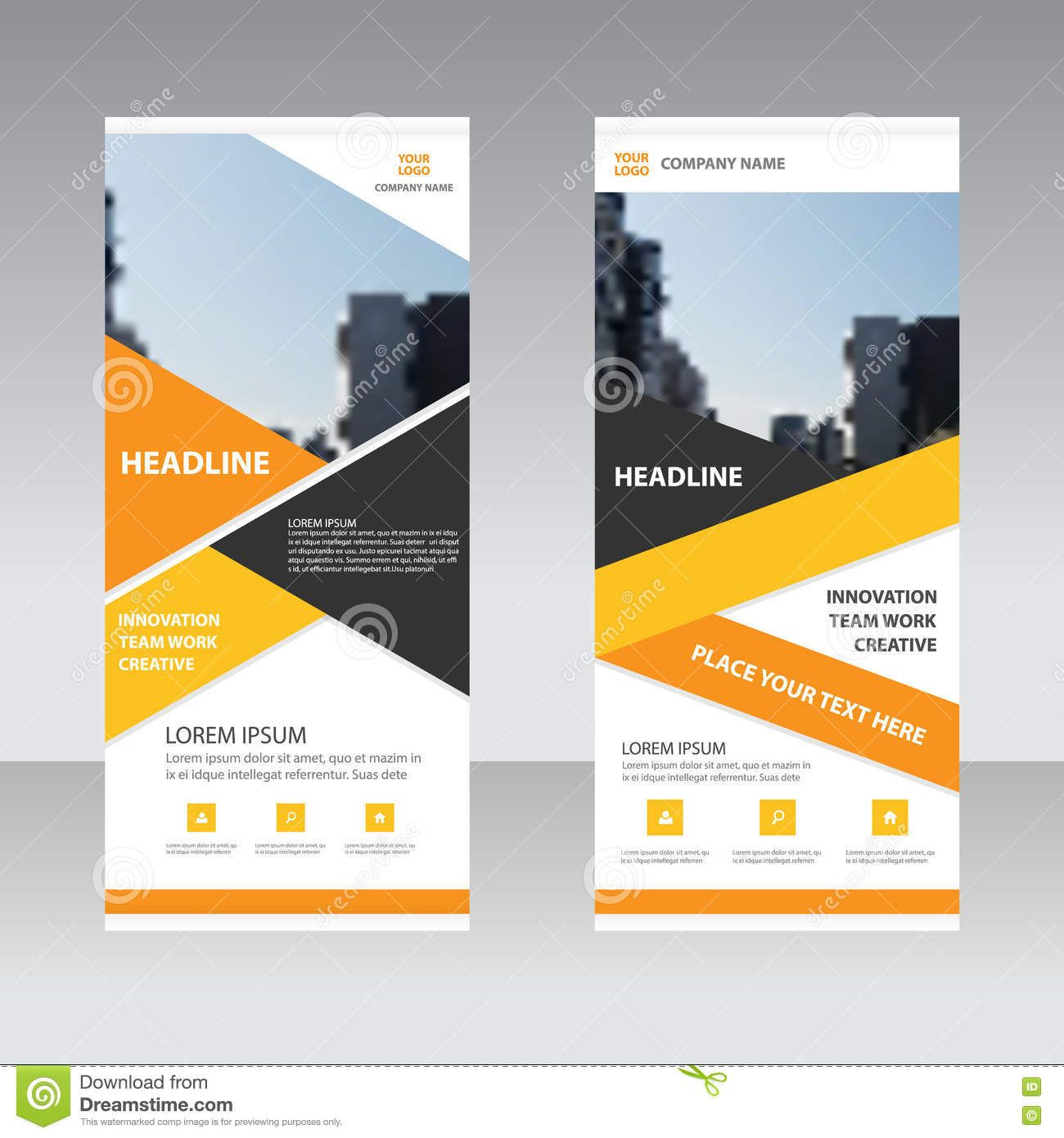 Orange yellow business roll up banner flat design template orange yellow business roll up banner flat design pronofoot35fo Choice Image