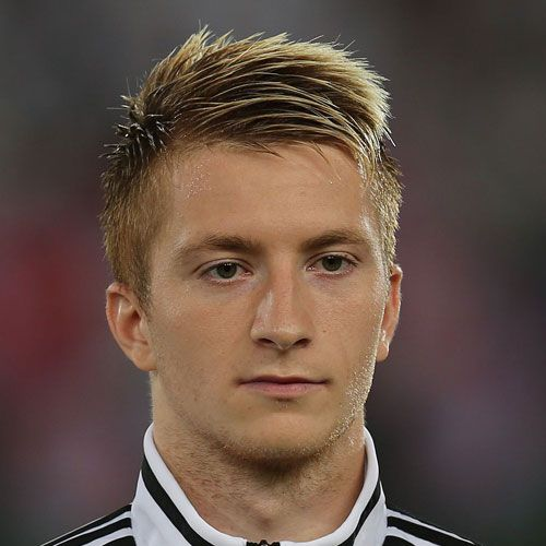 Marco Reus Hair   Spiky Comb Over + Short Sides