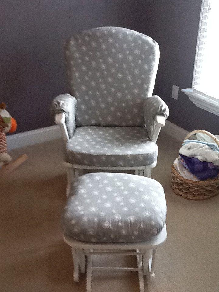 Custom Made Nursery Or Home Glider Rocker Chair Cushion Cover And Ottoman Cushion Cover Free