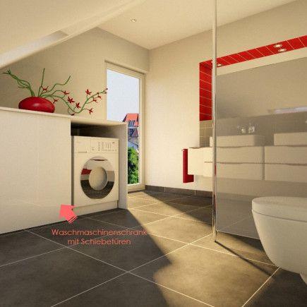 waschmaschinenschrank mit schiebetueren bad und waschk che w sche bad und waschmaschine. Black Bedroom Furniture Sets. Home Design Ideas
