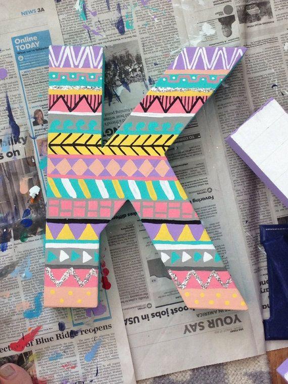 tribal print custom letters