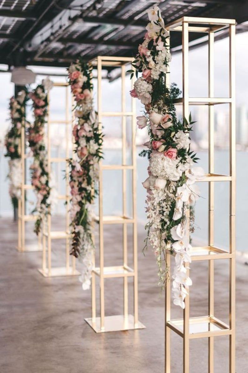 Set of 2 PCs 6ft Modern Tall Rectangular Floral Etsy in