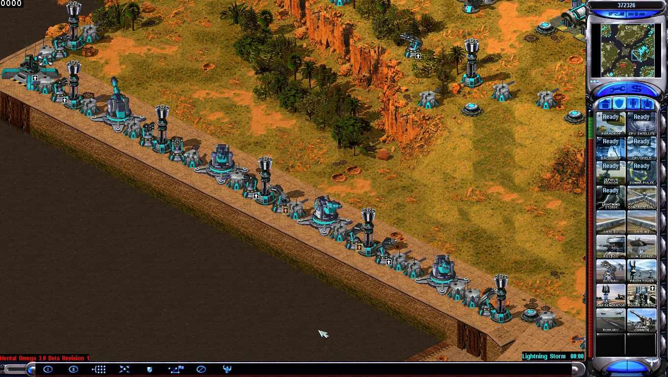 Command & Conquer Red Alert 2 Mental Omega - My Allied Base (Pacific Front)