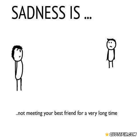 Sadness Isnot Meeting Your Best Friend For A Long Time Friends