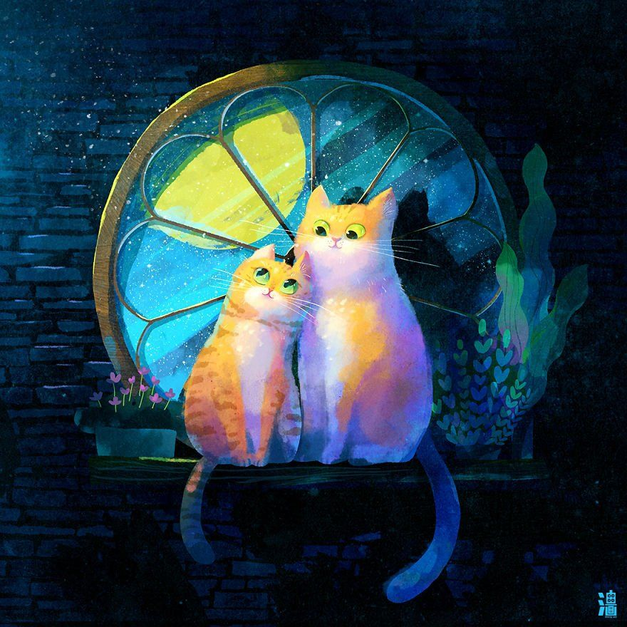Иллюстрации от тайского художника Little Oil Art ...