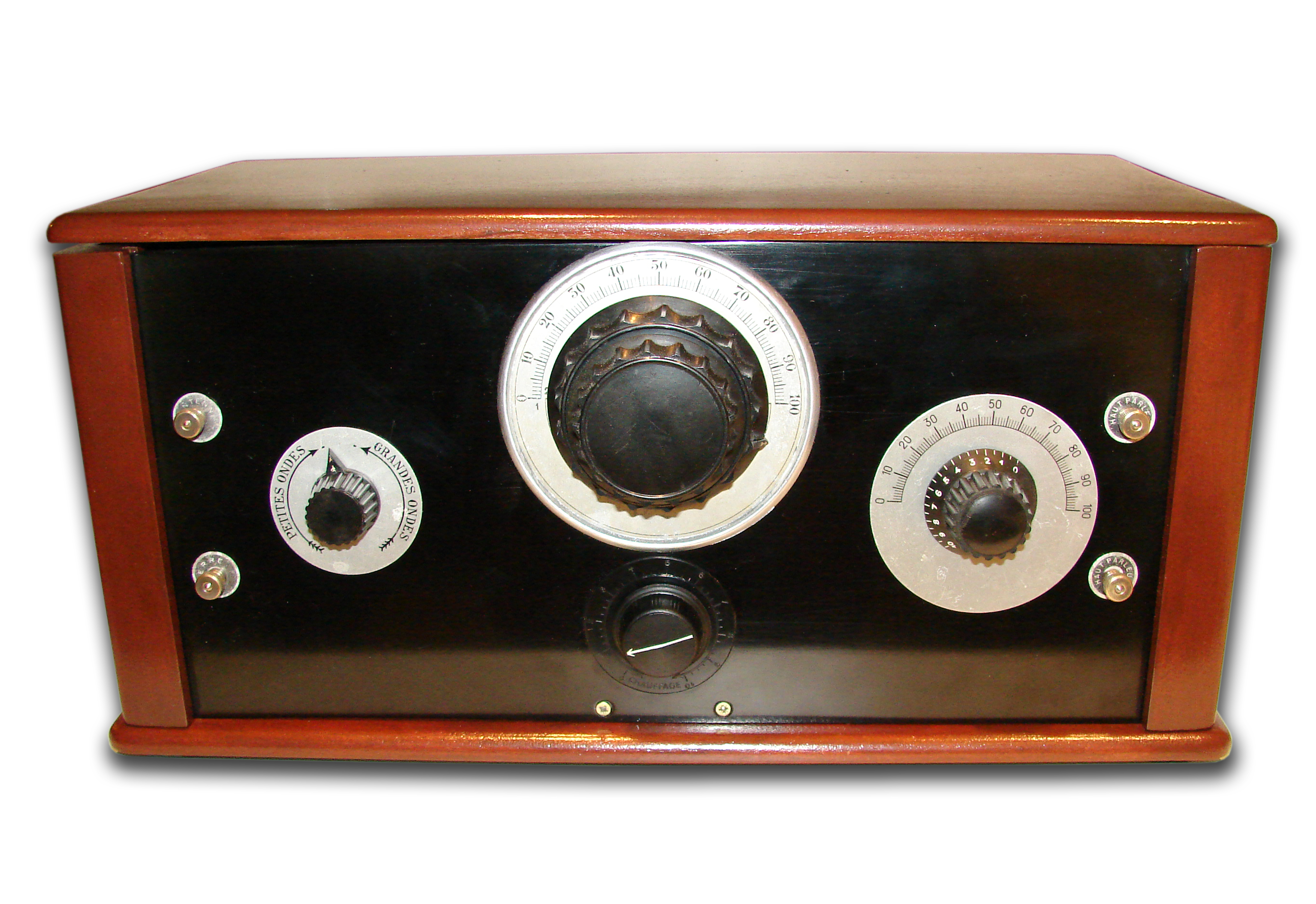 Radio Tsf Vintage Antique Poste Batterie Type Le Synchrone Oldtimeradiogoldenage Old Time Radio Radio Old Radios