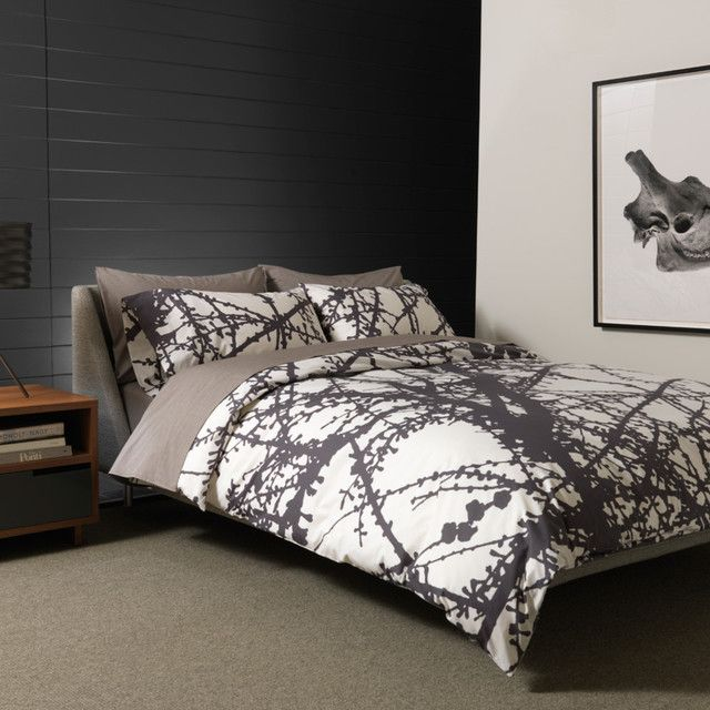 Unison Larch Bedding In Ash Queen Duvet Modern Covers Design Public