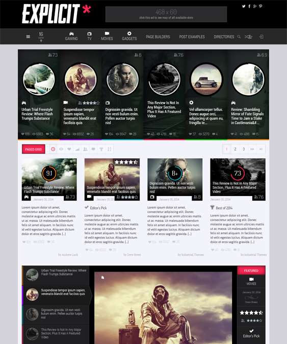 This WordPress review theme includes Bootstrap integration, a ...
