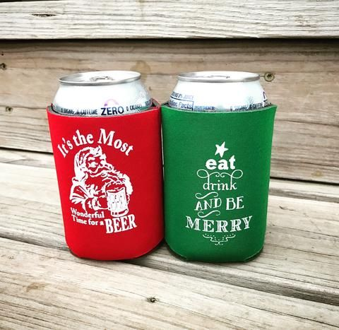 Christmas Koozies.Custom Can Coolers To Have And To Hold Koozies For