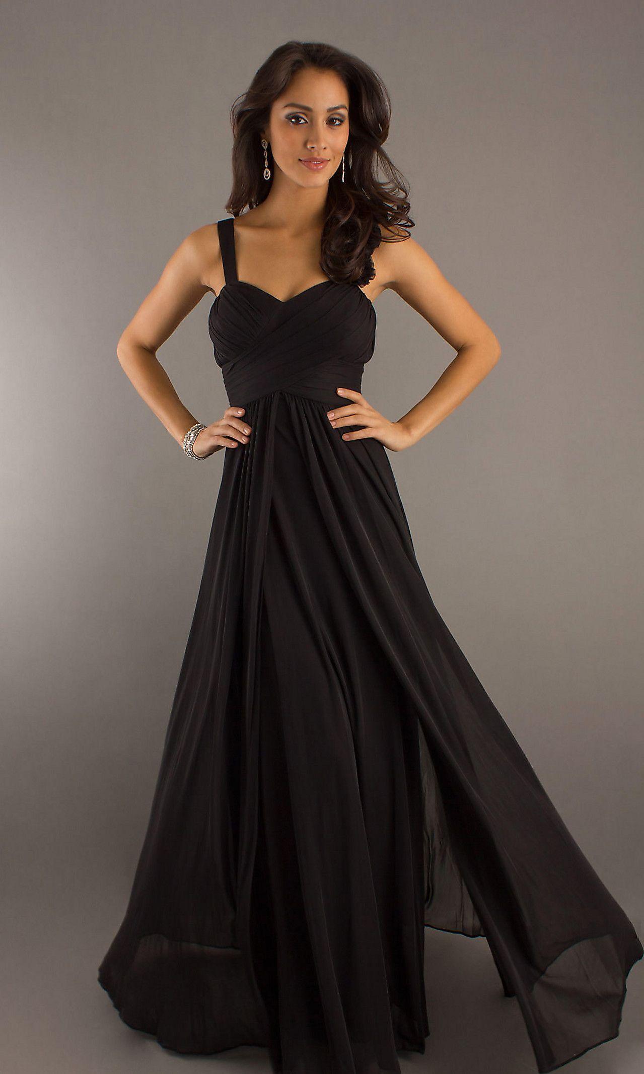 Long Formal Dress For Prom Black Chiffon Bridesmaid Dresses Cheap Wedding Dress Floor Length Chiffon Bridesmaid Dresses