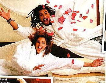 Jason Momoa with Simmone on their engagement
