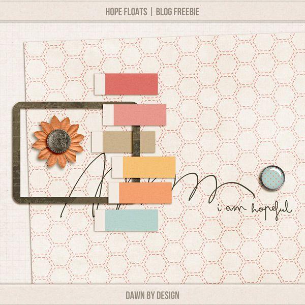 Quality DigiScrap Freebies  ~~~Hope Floats Dawn by Design
