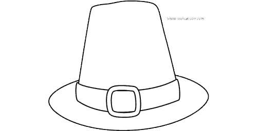 Thanksgiving Printable Pilgrim Hat Coloring Page Thanksgiving