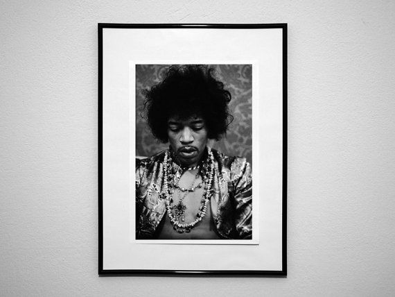 jimi hendrix Wall Art Print canvas paper Poster by CoolPoster ...