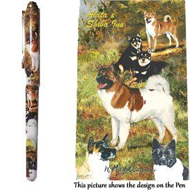 Akita Gift. Beautiful Rollerball Pen with black velvet pouch. Rollerball http://www.amazon.co.uk/dp/B00ON5KHE2/ref=cm_sw_r_pi_dp_5Ehawb00E3D9Q