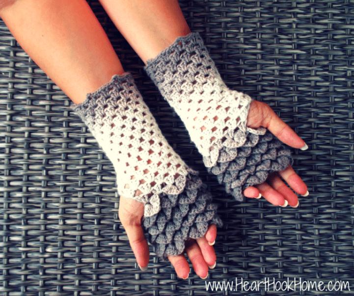 Dragon Tears Fingerless Gloves Crochet Pattern | Fingerless gloves ...
