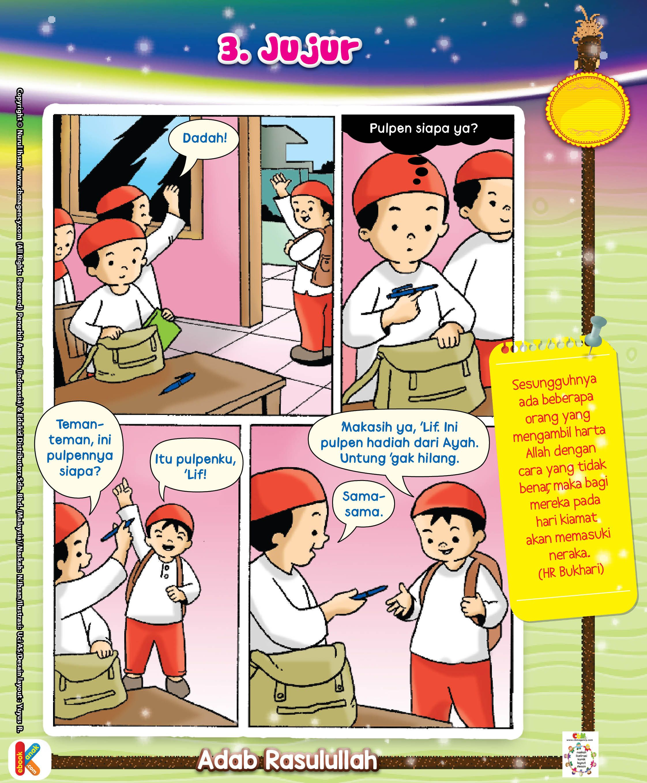 Komik Adab Keutamaan Jujur Ebook Anak Komik Anak Kartun Buku Anak